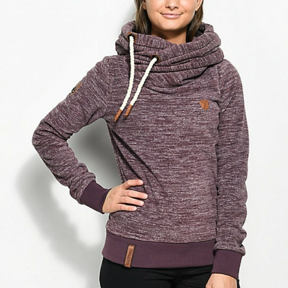 Naketano Glitzermuschi Tech Fleece Hoodie NWT